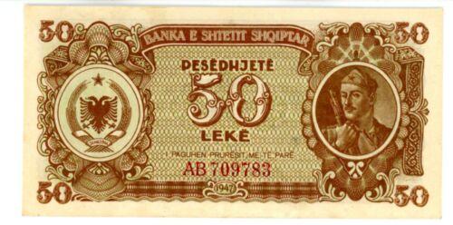 Albania ... P-20 ... 50 Leke ... 1947 ... CH*AU+*
