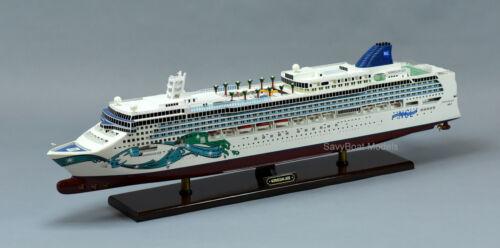 "Norwegian Jade Cruise Ship 40"" Handmade Wooden Ship Model"