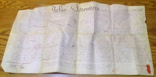 1784 COLONIAL INDENTURE DOCUMENT PHILADELPHIA VELLUM LAND DEED CHERRY ST TAYLOR