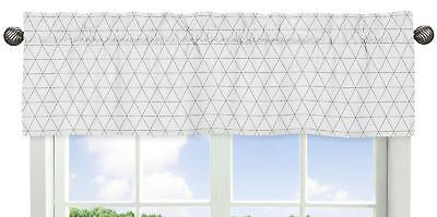 Grey White Triangle Window Valance Curtain for Sweet Jojo Mod Jungle Bedding -