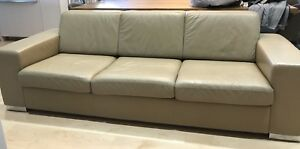 Custom built contemporary Leather Couch