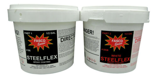 Fasco Epoxies Steelflex White - Epoxy Bottom Coating - Gallon Kit