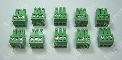 Set of 10 / 3 pin - 3.5mm /  Terminal Connector - Crestron, B&K, Speakercraft..