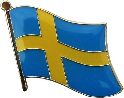 Sweden Country Flag Bike Motorcycle Hat Cap lapel Pin  ()