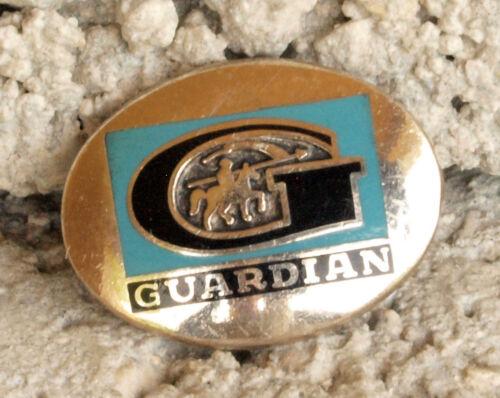 VINTAGE ENAMELED STERLING SILVER GUARDIAN GLASS COMPANY EMPLOYEE AWARD PIN