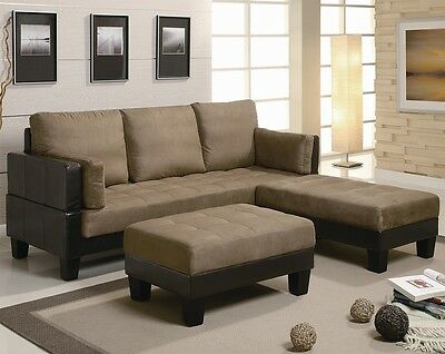 Coaster 300160 - Fulton Contemporary Sofa Bed Group with 2 Ottomans
