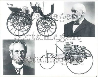 Composite Karl Benz Gottlieb Daimler Vintage Autos Press Photo