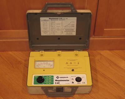 Greenlee 5990 5kv Megohmmeter Insulation Tester - 500v1kv2kv5kv Voltages