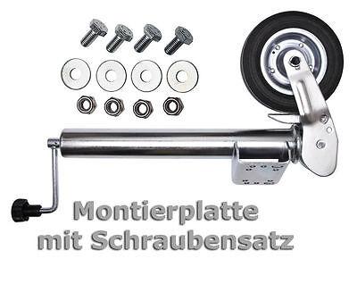 PKW Anhänger Stützrad Automatik Trailer Bugrad Hänger Stützrad Wohnwagen Stütze