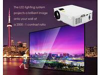 NEW,GP - 9 Mini Home Theater 2000 Lumens 1920 x 1080P Multimedia HD LCD Projector