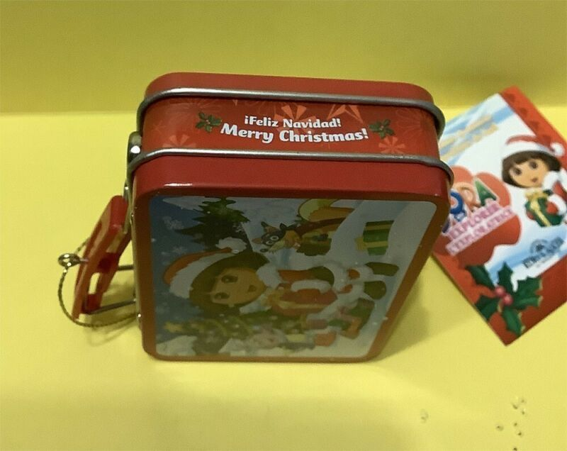 DORA THE EXPLORER MINI LUNCH BOX REALLY OPENS! CHRISTMAS HOLIDAY ORNAMENT