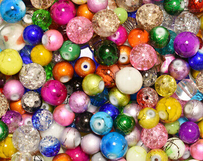 Mixed Glass specialty beads - over 500 (Specialty Glasses)