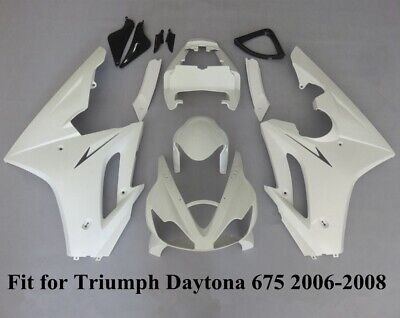 Unpainted White Fairing Kit For Triumph Daytona 675 2006-2008 ABS Injection Body