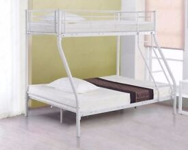 Creative Trio-Sleeper Bunk Bed In Black And White 4ft6 / 3ft Bunks All Size Mattress Options