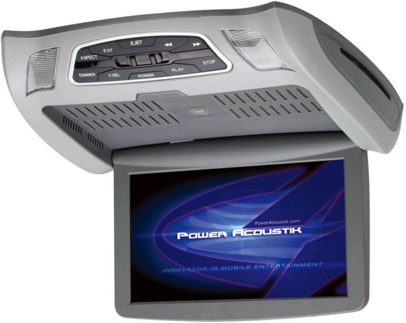 """POWER ACOUSTIK PMD104X CAR ROOF CEILING-MOUNT DVD PLAYER 10.3"""" MONITOR PMD-104X"""