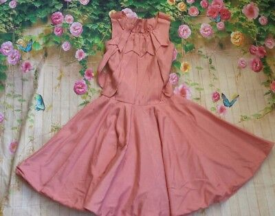 ValMax Salmon Pink Girls Party Dress Sz 9