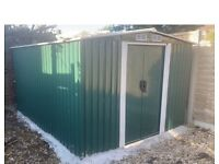 Metal Garden Shed 10x8ft brand New sealed in box including foundation kit and delivery