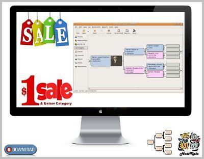 Gramps Portable * Genealogical Research Software * Digital Download *