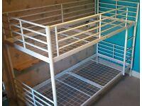 White ikea bunk bed - no mattresses
