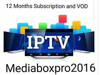 12 MONTHS PREMIUM UK IPTV SUBSCRIPTION AND VOD FOR ZGEMMA IPAB IMAGE, ANDROID AND SMART TV'S