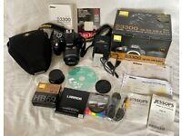 Nikon D3300 DSLR Camera with AF-S DX 18-55 VR II Kit. £275
