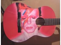 AMAZING DAVID BOWIE - COOL AMAZING GUITAR FULL SIZE CLASSICAL GUITAR - BRAND NEW