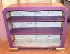 Glass fronted Art Deco display cabinet, ideal for a salon, retail unit or home use