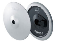 ROLAND V Drums CY-15R SV Electronic 3 zone Ride Cymbal Pad V DRUMS SILVER 15 inch - 2 available