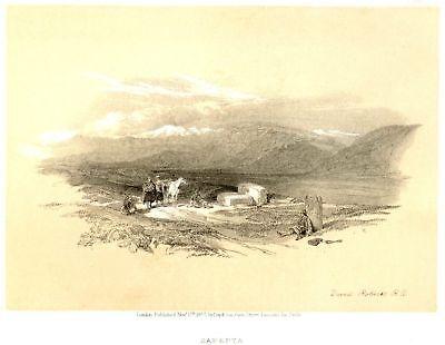 Robertss Holy Land Tinted Litho  1855  Sarepta