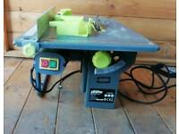 Small table saw and bench grinder
