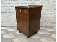 Vintage Retro Bedside Table Cabinet Cupboard #557