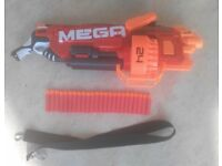Nerf Mega Mastodon gun with 24 darts and carry strap - Perfect condition