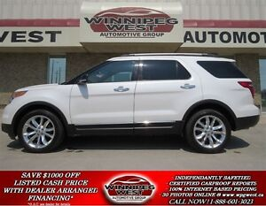 2014 Ford Explorer Pearl White 4x4, Leather, Twin Sunroof, Navig
