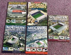 NEW set of 5 amazing books. Football Grounds from the Air plus lots of info.