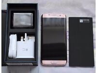 Samsung S7 Edge - Pink Gold - Boxed As New - Unlocked, not part of a contract