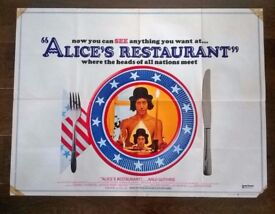 alice's restaurant ' original cinema poster