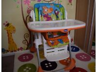 Chicco Polly 2in1 Highchair Wood Friends