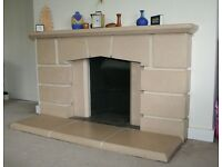 Fireplace surround & footing