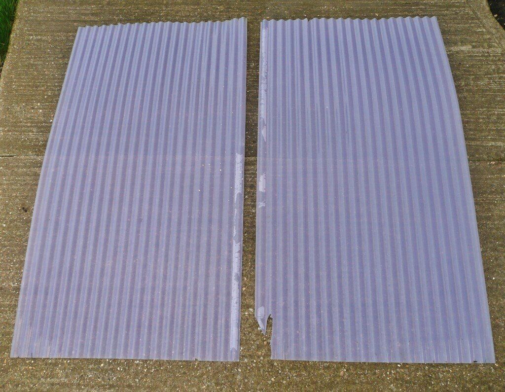 2 X Palruf Corrugated Pvc Roof Roofing Sheets Panels 121cm X 66cm Ideal For Garden Cold Frame Etc In South Ockendon Essex Gumtree