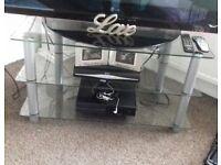 GLASS TV UNIT (LIKE NEW)