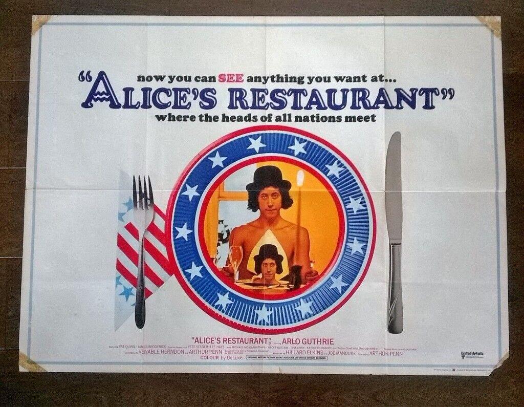 alice's restaurant ' original 1960s cinema poster