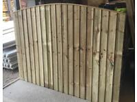 🌞 Tanalised Bow Top Wooden Garden Fence Panels