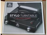GPO Stylo record player with built-in speakers (& amp) - BRAND NEW