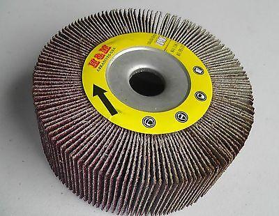 2pcs 4-in Abrasive Flap Sanding Wheels 4x1x 58 60 Grit For Metal Wood Etc.