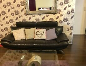 Leather 3 & 2 Seater Sofas from DFS