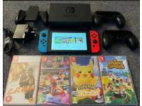 Nintendo Switch Console Neon Blue/Neon Red - Bundle