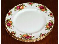 Royal Albert Old English Rose Dinner Plates