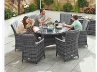 Grey ratten table & chairs