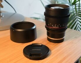 Samyang 85mm T1.5 VDSLRII Cine Lens - Sony E-Mount - Used once