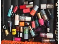 Selection of nail varnishes